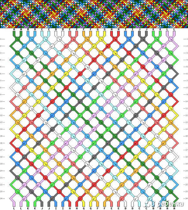 Схема фенечки 21256