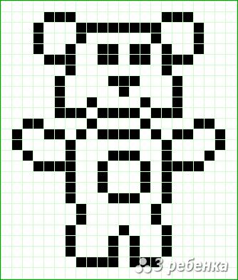 Схема фенечки прямым плетением 21382