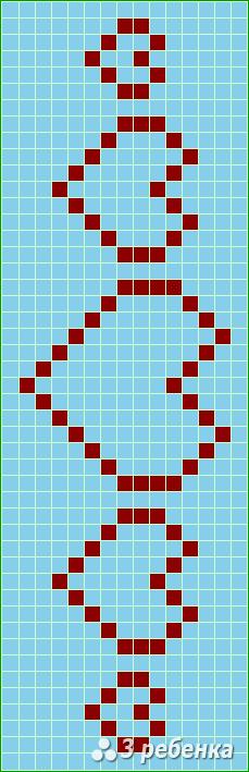 Схема фенечки прямым плетением 21407