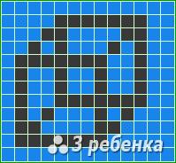 Схема фенечки прямым плетением 21417