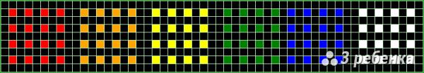 Схема фенечки прямым плетением 21392