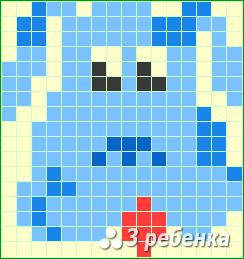 Схема фенечки прямым плетением 21361