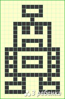 Схема фенечки прямым плетением 21422