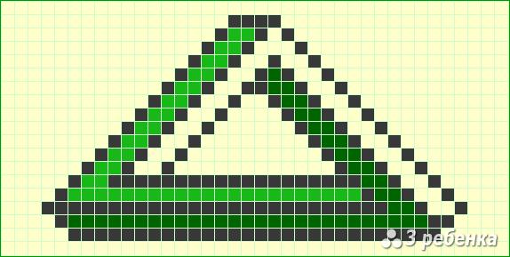 Схема фенечки прямым плетением 21356