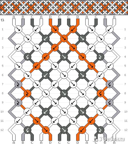 Схема фенечки 21901