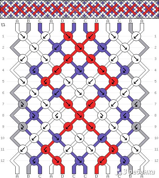 Схема фенечки 21905