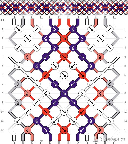 Схема фенечки 21909
