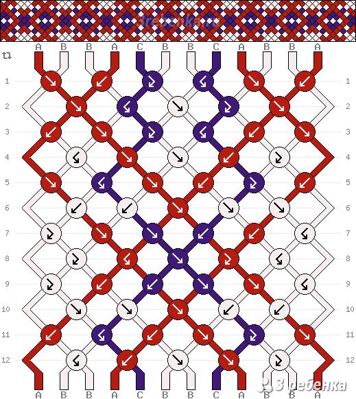 Схема фенечки 21913