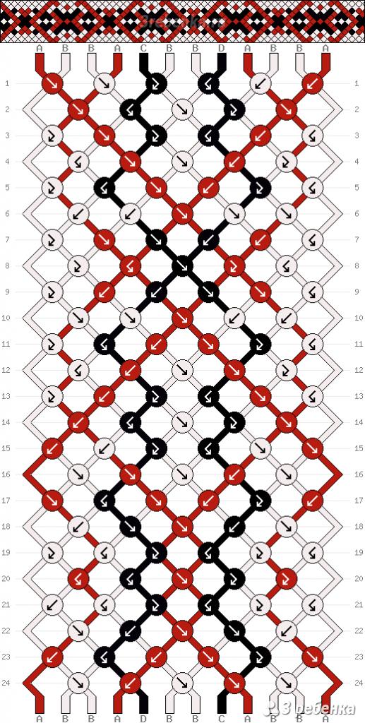 Схема фенечки 21921