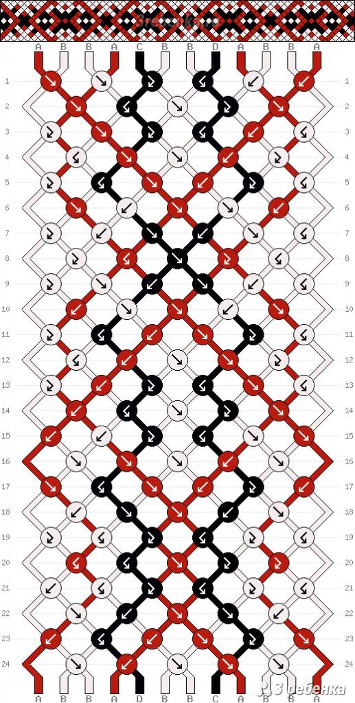 Схема фенечки 21925