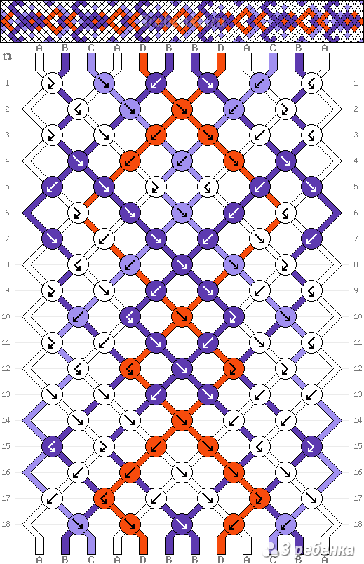 Схема фенечки 21960