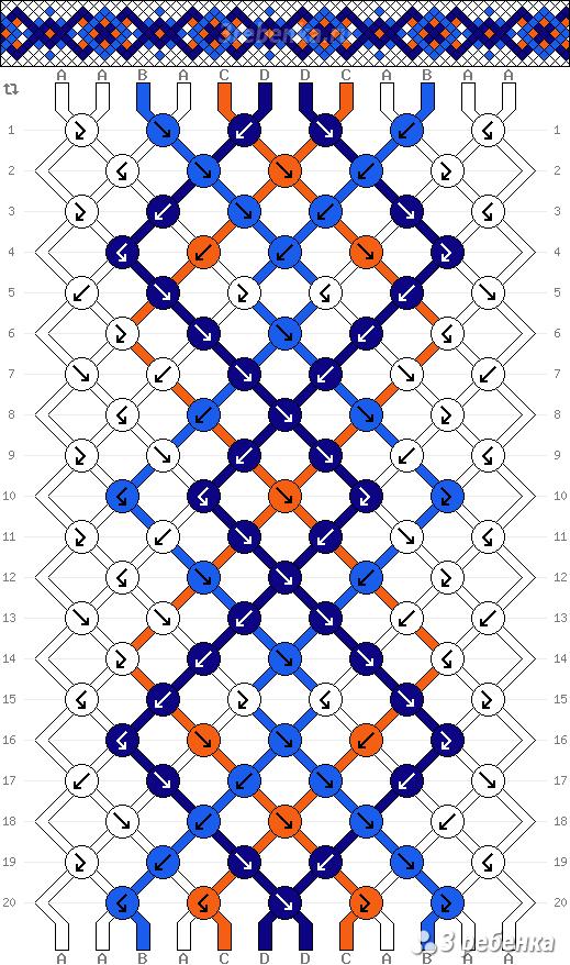 Схема фенечки 21964