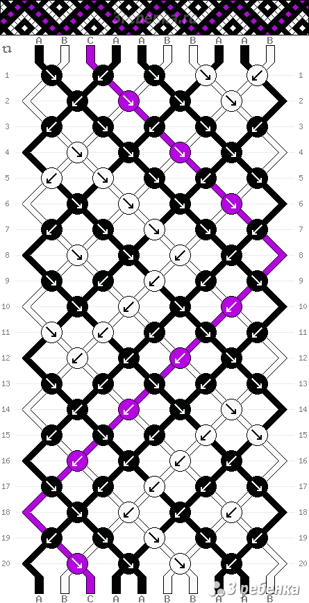 Схема фенечки 22030