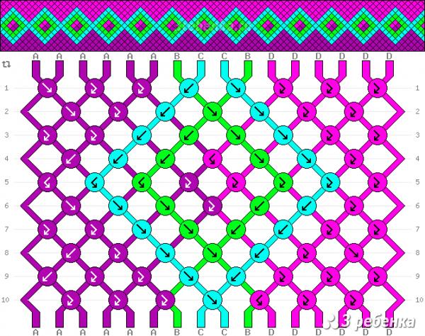 Схема фенечки 22038