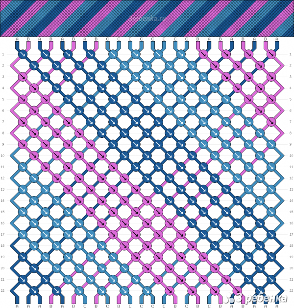 Схема фенечки 22042