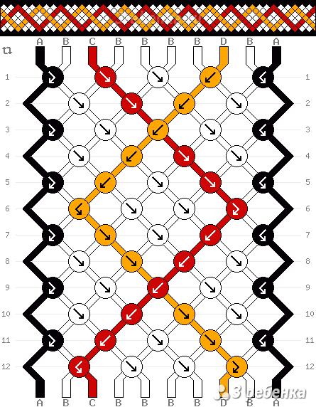 Схема фенечки 22058