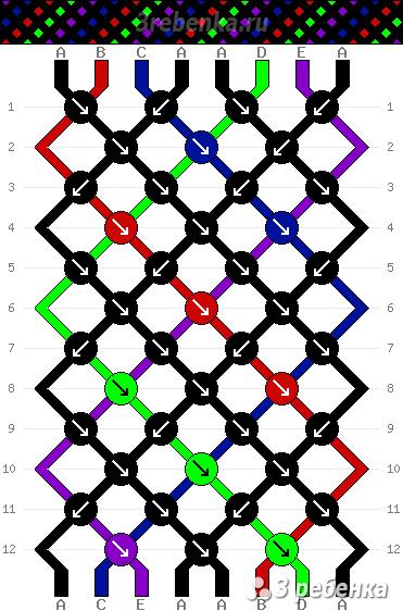Схема фенечки 22110
