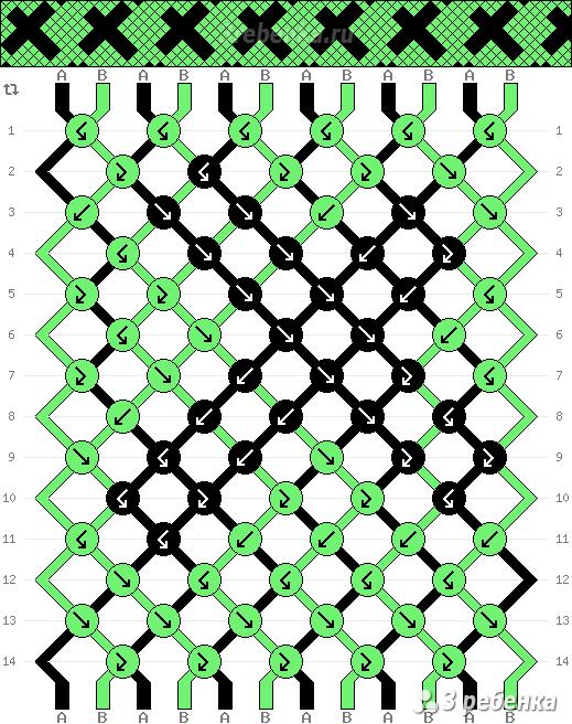 Схема фенечки 22124