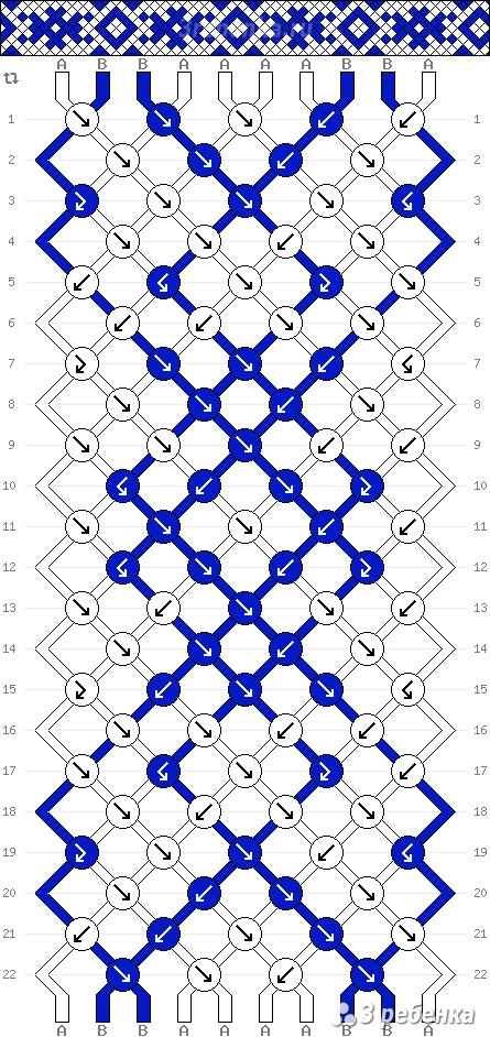 Схема фенечки 22167