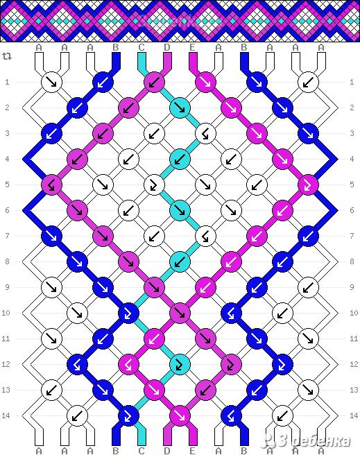 Схема фенечки 22172