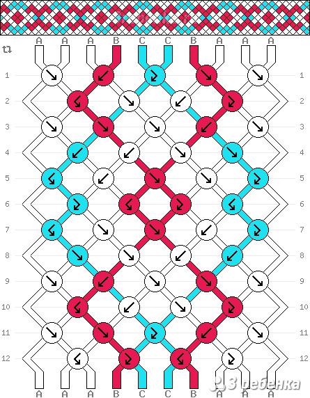 Схема фенечки 22180