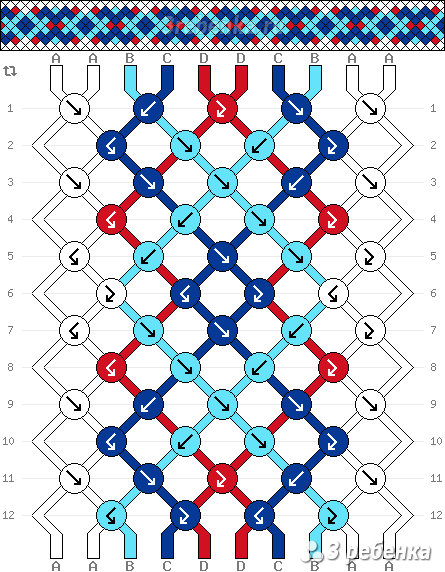 Схема фенечки 22184