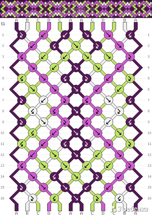 Схема фенечки 22221