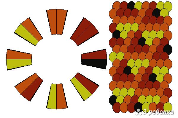 Схема фенечки кумихимо 21887