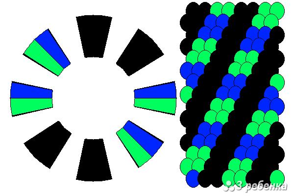 Схема фенечки кумихимо 21838