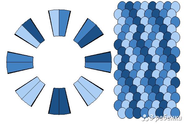 Схема фенечки кумихимо 21834