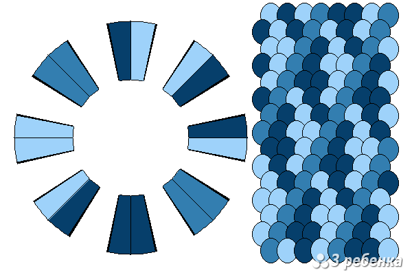 Схема фенечки кумихимо 21830