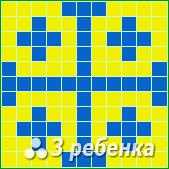 Схема фенечки прямым плетением 21800