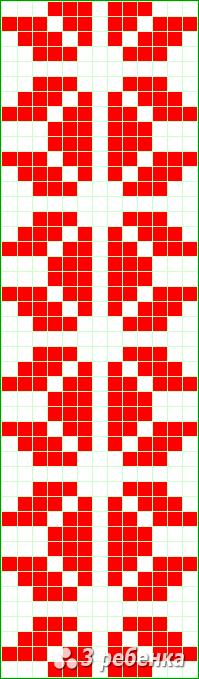 Схема фенечки прямым плетением 21764
