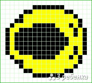 Схема фенечки прямым плетением 21785