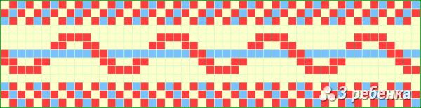 Схема фенечки прямым плетением 21691
