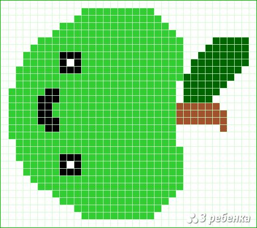 Схема фенечки прямым плетением 21780