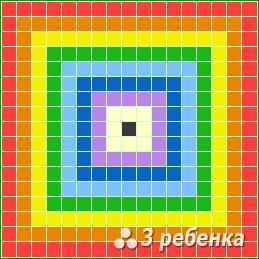 Схема фенечки прямым плетением 21707