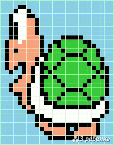 Схема фенечки прямым плетением 21748
