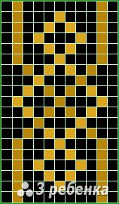 Схема фенечки прямым плетением 21733