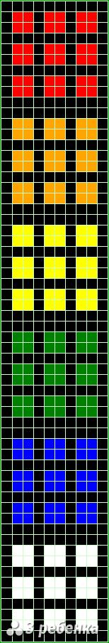 Схема фенечки прямым плетением 21728