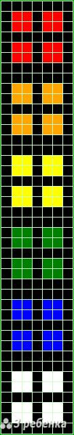Схема фенечки прямым плетением 21743