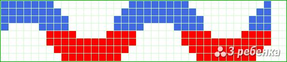 Схема фенечки прямым плетением 21758