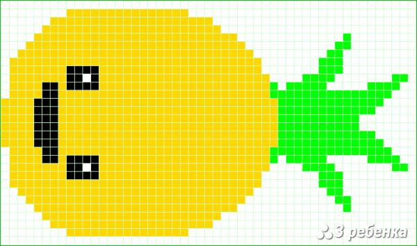Схема фенечки прямым плетением 21686