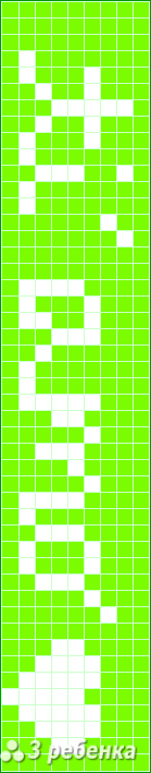 Схема фенечки прямым плетением 21702