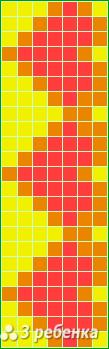 Схема фенечки прямым плетением 21795