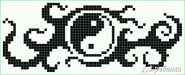 Схема фенечки прямым плетением 21673