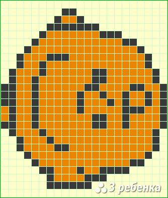 Схема фенечки прямым плетением 21717