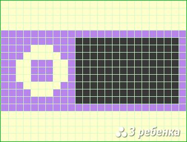 Схема фенечки прямым плетением 21738