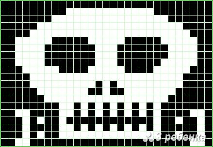 Схема фенечки прямым плетением 21753