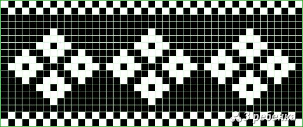 Схема фенечки прямым плетением 21790